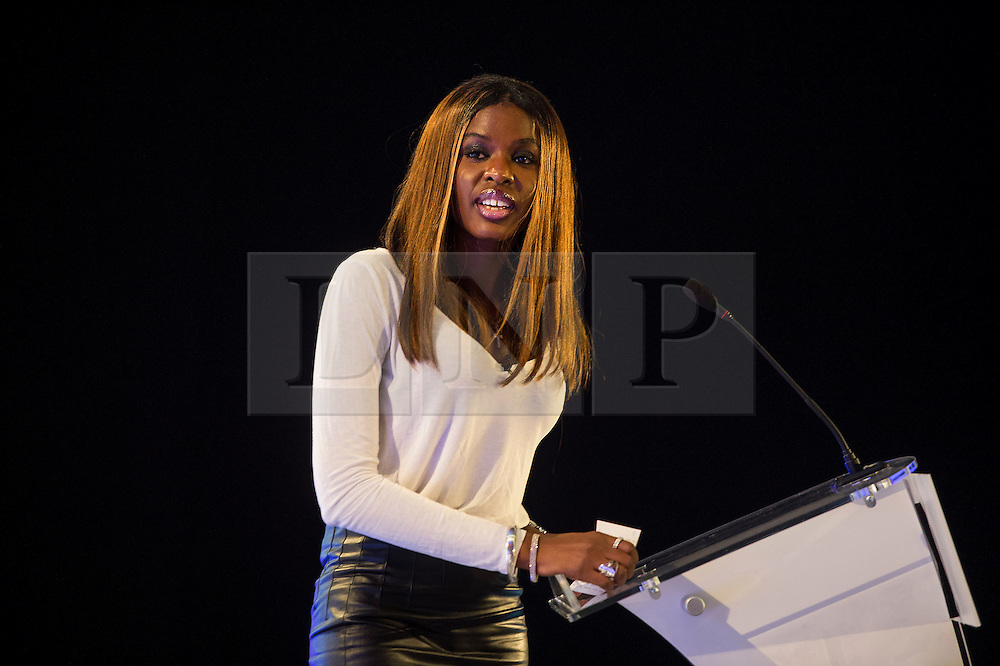 © Licensed to London News Pictures. 12/10/2015. London, UK. JUNE SARPONG speaking at the event. The launch of the Britain Stronger in Europe campaign at the Truman Building in London. The campaign is being by led by Former M&S chairman, Lord Stuart Rose. Photo credit: Ben Cawthra/LNP