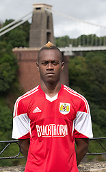 Toby Ajala of Bristol City - Photo mandatory by-line: Kieran McManus/JMP - Tel: Mobile: 07966 386802 31/07/2013 - SPORT - FOOTBALL - Avon Gorge Hotel - Clifton Suspension bridge - Bristol -  Team Photo