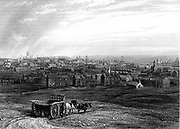 View of Leeds, Yorkshire  in the early 19th century.