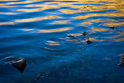 Reflected light in the ripples of Lake Cleveland.