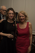 ANNA STOTHARD; SALLY EMERSON;, The launch of Fire Child by Sally Emerson. Hosted by Sally Emerson and Naim Attalah CBE. Dean St. London. 22 March 2017