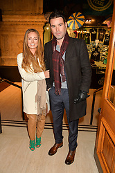 DAVE BERRY and partner SARAH JANE at the opening night of Amaluna by Cirque Du Soleil at The Royal Albert Hall, London on 19th January 2016.
