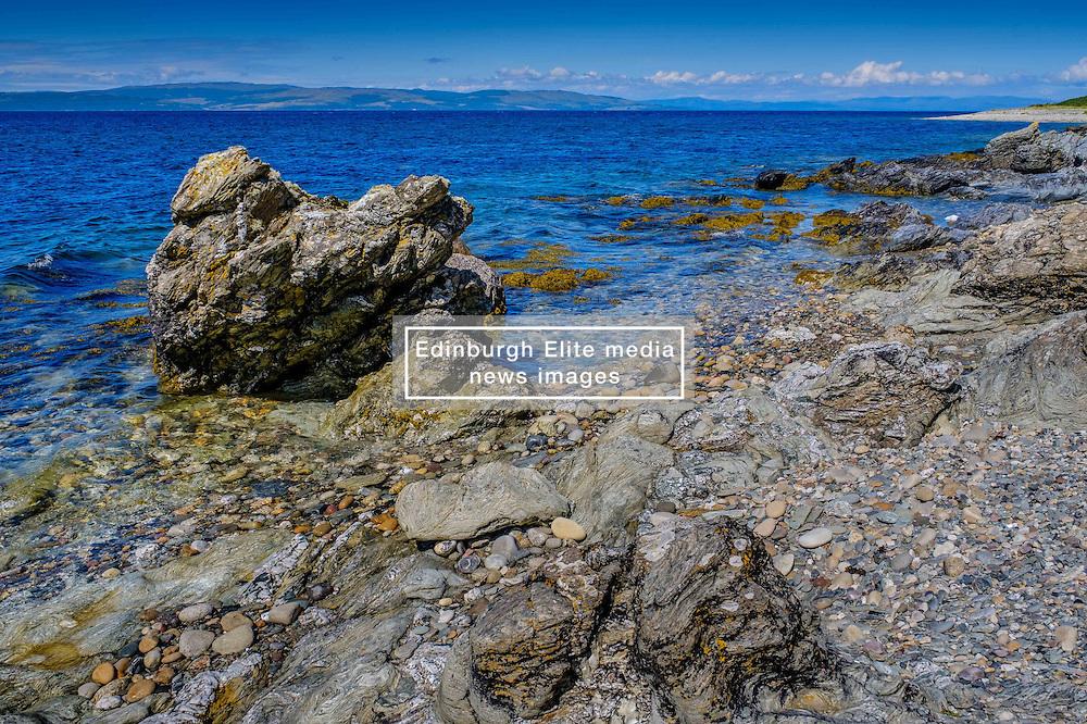 Seascape on the west coast of Arran, Scotland looking towards the Mull of Kintyre<br /> <br /> (c) Andrew Wilson | Edinburgh Elite media