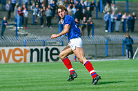 Robert Barr, LInfield FC, Belfast, N Ireland, UK, 1985081102..Copyright Image from Victor Patterson, 54 Dorchester Park, Belfast, UK, BT9 6RJ..Tel: +44 28 9066 1296.Mob: +44 7802 353836.Voicemail +44 20 8816 7153.Skype: victorpattersonbelfast.Email: victorpatterson@mac.com.Email: victorpatterson@ireland.com (back-up)..IMPORTANT: If you wish to use this image or any other of my images please go to www.victorpatterson.com and click on the Terms & Conditions. Then contact me by email or phone with the reference number(s) of the image(s) concerned.