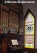 Church Organ and Stained Glass, Eckley Miner's Village Historic Site, PA Historical and Museum Commission, Luzerne, Co., NE PA