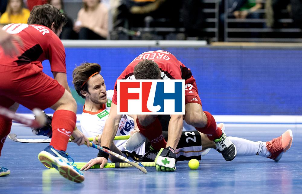 BERLIN - Indoor Hockey World Cup<br /> Quarterfinal 3: Germany - Switzerland<br /> foto: Marco Miltkau and GREDER Martin.<br /> WORLDSPORTPICS COPYRIGHT FRANK UIJLENBROEK