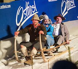 28.12.2013, Hauptplatz, Lienz, AUT, FIS Weltcup Ski Alpin, Lienz, Damen, Siegerehrung Riesentorlauf mit anschließender Auslosung der Startnummern fuer Slalom, im Bild Nicole Hosp (AUT) // during the victory ceremony of the giant slalom and the bip draw for slalom, Lienz FIS Ski Alpine World Cup at Hautpplatz in Lienz, Austria on 2013/12/28, EXPA Pictures © 2013 PhotoCredit: EXPA/ Michael Gruber