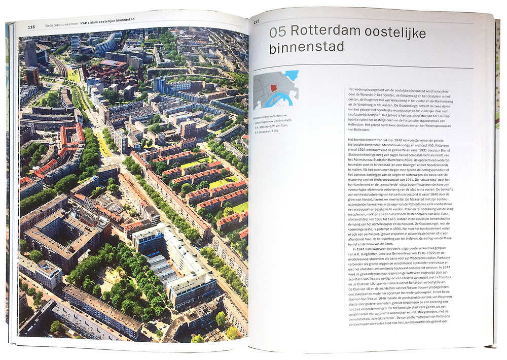 Atlas van de Wederopbouw, p 116 - 117, Oostelijke binnenstad Rotterdam