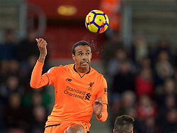 SOUTHAMPTON, ENGLAND - Sunday, February 11, 2018: Liverpool's Joel Matip during the FA Premier League match between Southampton FC and Liverpool FC at St. Mary's Stadium. (Pic by David Rawcliffe/Propaganda)
