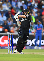 Cricket - 2019 ICC Cricket World Cup - Semi-Final: India vs. New Zealand<br /> <br /> New Zealand's Tom Latham in action today during the ICC Cricket World Cup match between India and New Zealand, at Old Trafford, Manchester.<br /> <br /> COLORSPORT/ASHLEY WESTERN