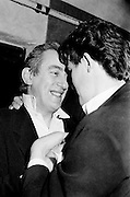 Shay Healy, who was a Eurovision winner with Johnny Logan in 1980, is on hand to congratulate Johnny on his win.<br />
