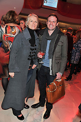 SARAH STEWART-SMITH and JAY GRIERSON at the London Design Week 2013 Party, held at the Design Centre, Chelsea Harbour, London SW10 on 18th March 2013.