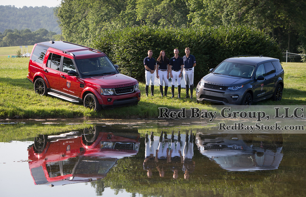 (From L to R): U.S. Eventing Team; Phillip Dutton, Lauren Kieffer, Clark Montgomery and Boyd Martin, at the 2016 Land Rover Great Meadow International, at the Great Meadow Foundation in The Plains, VA on Friday, July 8, 2016 with the 2016 LR4 and 2016 Discovery Sport.