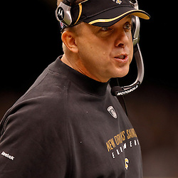 January 2, 2011; New Orleans, LA, USA; New Orleans Saints head coach Sean Payton during the fourth quarter of a game against the Tampa Bay Buccaneers at the Louisiana Superdome. The Buccaneers defeated the Saints 23-13. Mandatory Credit: Derick E. Hingle