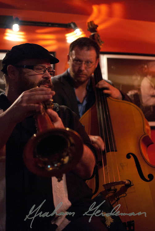 Stephen Fulton (flugelhorn) and Elias Bailey (bass) - live with Champian Fulton in Nashville, TN.