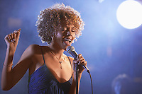 Jazz Singer Performing in Club