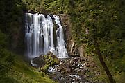 Marokopa Falls on the Marokopa River near the Waitomo region of the Waikato