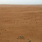 Oman, Wahiba Sands. January/25/2008...A vast desert landscape; Oman's Wahiba Sands.