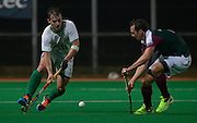 Canterbury's Ben Hare against Surbiton in the NOW: Pension Men's Hockey League Premier Division, Polo Farm, Canterbury, Kent, 22nd November 2014.