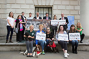 UNITED KINGDOM, London: 07 June 2016 Actresses, MPS's and campaigners show their support outside the Chinese Embassy earlier today as they join other animal lovers to hand in a petition against China's Yulin dog meat festival. Rick Findler / Story Picture Agency