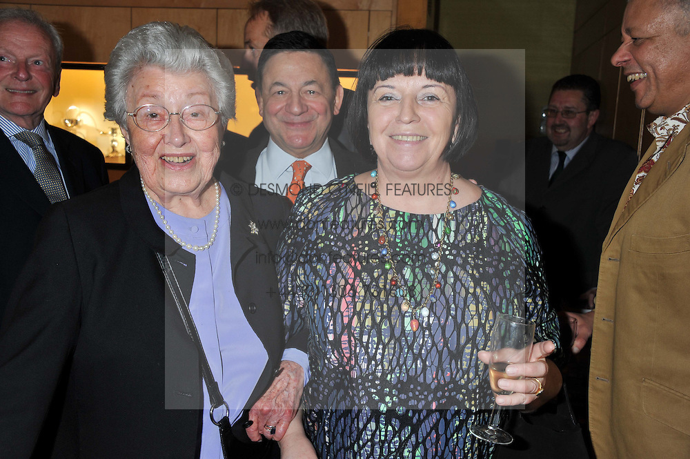Left to right, LOIS SIEFF and NICHOLAS & MARGO SNOWMAN at a private view of  'A Diamond Jubilee Tribute - Faberge From A Private Colection' in aid of the charity Samaritans, held at Wartski, 14 Grafton Street, London on 14th May 2012.