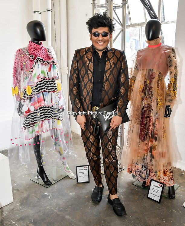 Raghav Tibrewal attend Liverpool John Moores University showcases at Graduate Fashion Week 2019, London, UK