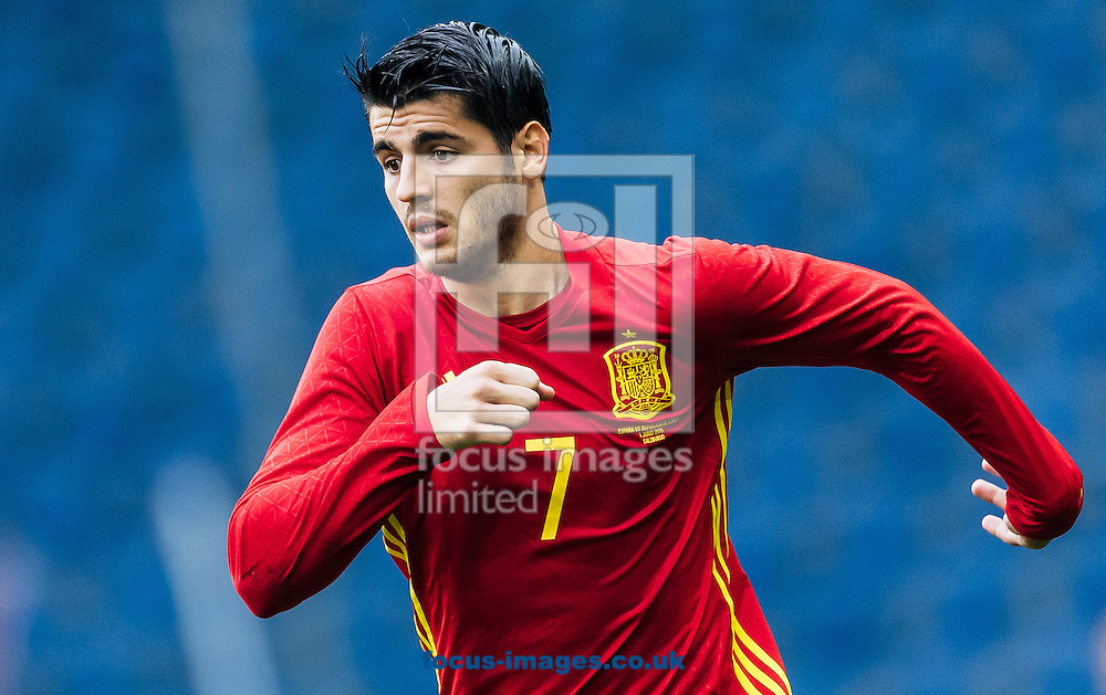 Alvaro Morata of Spain during the International Friendly match at Red Bull Arena, Salzburg, Austria.<br /> Picture by EXPA Pictures/Focus Images Ltd 07814482222<br /> 01/06/2016<br /> ***UK &amp; IRELAND ONLY***<br /> (filename}