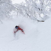 Kolby Ward gets pitted at Rusutsu Resort, Japan.
