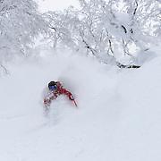 Kolby Ward gets pitted at Rusutsu Resort, Japan.
