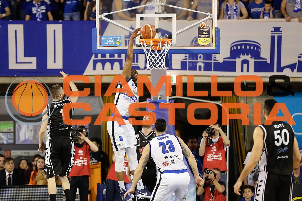 Landry Marcus<br /> Germani Basket Brescia Leonessa - Pasta Reggia Juve Caserta<br /> Lega Basket Serie A 2016/2017<br /> Montichiari, 02/04/2017<br /> Foto Ciamillo-Castoria / M. Brondi