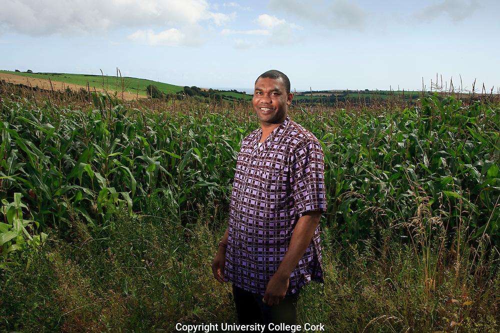 Stephen Onakuse, UCC. Photograph by Tomas Tyner,UCC.