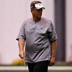 July 31, 2010; Metairie, LA, USA; New Orleans Saints defensive coordinator Gregg Williams during a training camp practice at the New Orleans Saints indoor practice facility. Mandatory Credit: Derick E. Hingle
