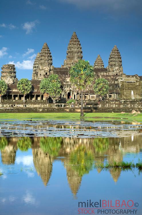 front view of Angkor Wat. Angkor temples. Cambodia, Asia