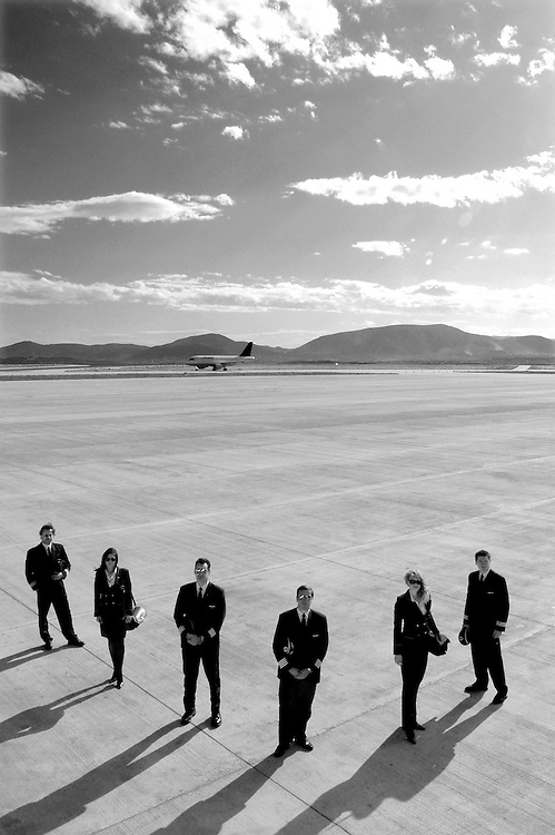 Pilots of the Olympic Airlines for Epiloges Magazine - Greece