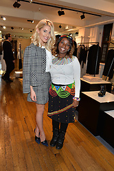 Left to right, MOLLIE KING and Irene Mayile at an exclusive out of hours shopping evening 'Gifts for Goddesses' hosted by Mollie King in aid of mothers2mothers held at Liberty, Regent Street, London on 2nd March 2016.
