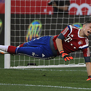Goalkeeper, Ivan Lucic, Bayern Munich, warming up during the FC Bayern Munich vs Chivas Guadalajara, friendly football match at Red Bull Arena, New Jersey, USA. 31st July 2014. Photo Tim Clayton