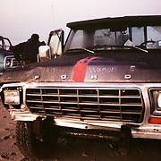 (11x17 pine frame) Clam wagon. (35mm film)