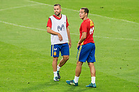 Jordi Alba and Lucas Vazquez during Spain training session at Santiago Bernabeu Stadium in Madrid, Spain September 01, 2017. (ALTERPHOTOS/Borja B.Hojas)
