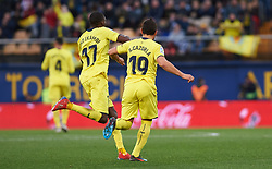 January 20, 2019 - Villarreal, Castellon, Spain - Santiago Cazorla and Karl Toko Ekambi of Villarreal celebrates a goal during the La Liga Santander match between Villarreal and Athletic Club de Bilbao at La Ceramica Stadium on Jenuary 20, 2019 in Vila-real, Spain. (Credit Image: © Maria Jose Segovia/NurPhoto via ZUMA Press)