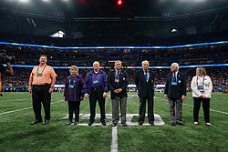 2019 Peach Bowl Hall of Fame class prior to the 2019 College Football Playoff Semifinal at the Chick-fil-A Peach Bowl on Saturday, Dec. 28, in Atlanta. (Paul Abell via Abell Images for the Chick-fil-A Peach Bowl)