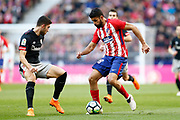 Atletico Madrid's Spanish forward Diego Costa vies for the ball during the Spanish championship Liga football match between Atletico Madrid and Athletic Bilbao on february 18, 2018 at the Metropolitano stadium in Madrid, Spain - Photo Benjamin Cremel / ProSportsImages / DPPI