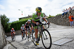 Doris Schweizer (Cylance Pro Cycling) with 400 metres to go at Giro Rosa 2016 - Stage 2. A 111.1 km road race from Tarcento to Montenars, Italy on July 3rd 2016.