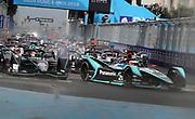 # 20, Mitch EVANS, NZL, Panasonic Jaguar Racing , Jaguar, I-Type III<br /> # 5, Stoffel VANDOORNE, BEL, HWA Racelab, Venturi, VFE05<br /> ROME, ITALY, 13. April 2019, Formula E, ROME, ROMA, ROM, Formula Electric, the Formula Electric Race in the streets of Rome -  fee liable image - Photo Credit: &copy; ATP / Arthur THILL