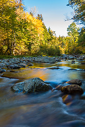 Nash Stream in Reddington Township, Maine. High Peaks Region. Fall.