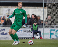 FODBOLD: Viktor Anker (FC Helsingør) under kampen i NordicBet Ligaen mellem FC Helsingør og HB Køge den 17. marts 2019 på Helsingør Stadion. Foto: Claus Birch