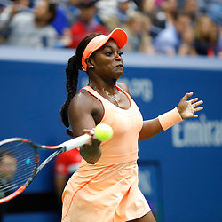 Sloane Stephens of United States during the Women's Single finals match on Day Thirteen of the Us Open 2017 at USTA Billie Jean King National Tennis Center on September 8, 2017 in New York City. (Photo by Marek Janikowski/Icon Sport)