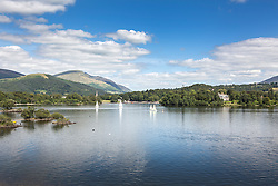 © London News Pictures. Pictured - Derwentwater at the bottom of the Lingholm estate gardens. Previously unseen pictures of Beatrix potter with her family have been unearthed during the purchase and restoration of the Lingholm Estate, the Potter family holiday home, where Beatrix potter drew inspiration for many of her most famous characters. Famous books such as Peter Rabbit and Squirrel Nutkin were inspired by the surroundings of the Cumbria estate, which is being opened to the public for the first time. Photo credit: Andrew McCaren/LNP WORDS AVAILABLE HERE http://tinyurl.com/oyb7url