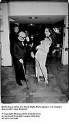 Swifty Lazar at his last Oscar Night  Party. Spago's. Los Angeles. March 1993. Film. 93251f19<br /> <br /> © Copyright Photograph by Dafydd Jones<br /> 66 Stockwell Park Rd. London SW9 0DA<br /> Tel 0171 733 0108