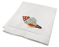 shell hand towel
