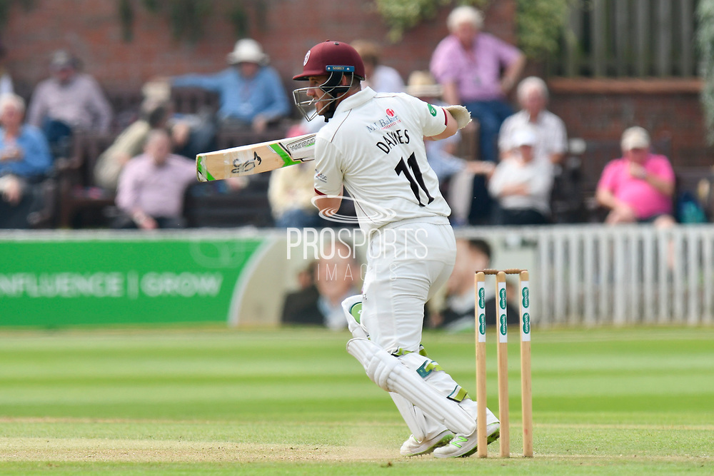 Steve Davies of Somerset batting during the Specsavers County Champ Div 1 match between Somerset County Cricket Club and Nottinghamshire County Cricket Club at the Cooper Associates County Ground, Taunton, United Kingdom on 10 June 2018. Picture by Graham Hunt.